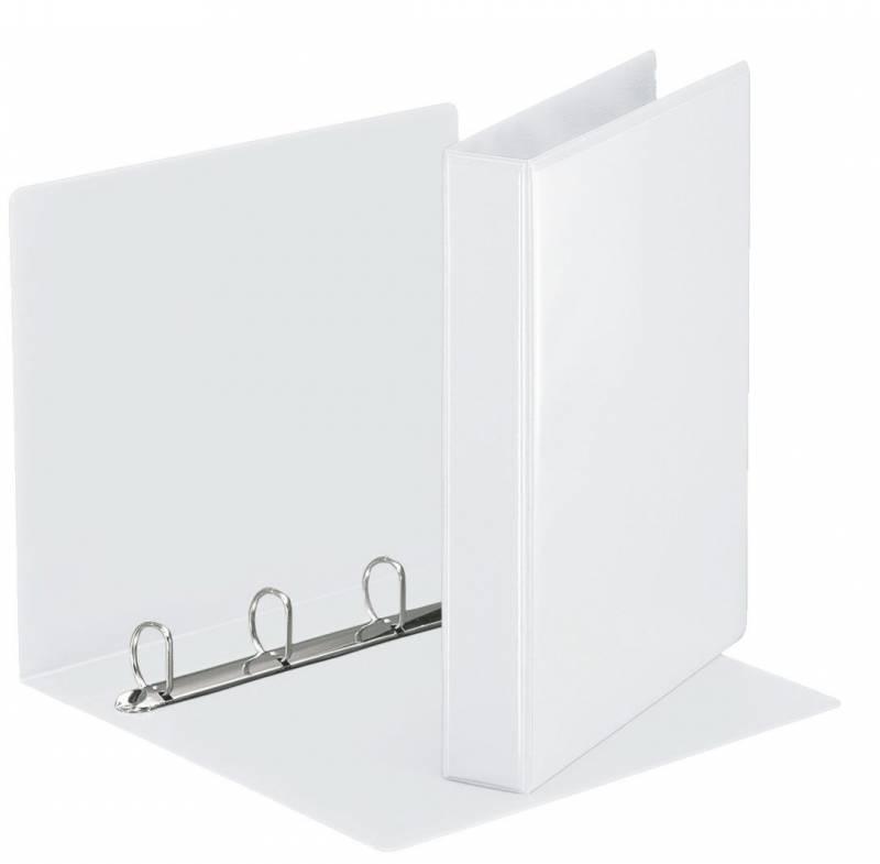 Image of   Hobbymappe Esselte 30mm hvid 4-rings D-mekanisme 49703