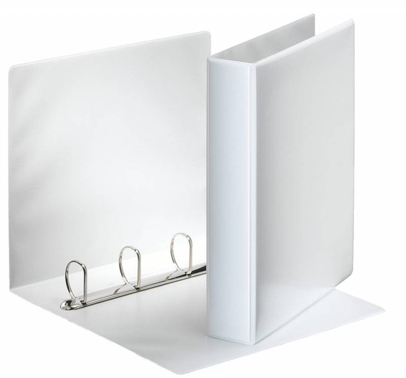 Image of   Hobbymappe Esselte 40mm hvid 4-rings D-mekanisme 49704