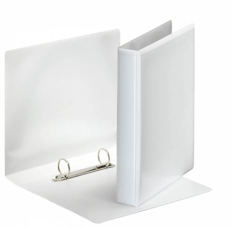 Image of   Hobbymappe Esselte hvid 25mm A5 m/lomme 2-rings rund