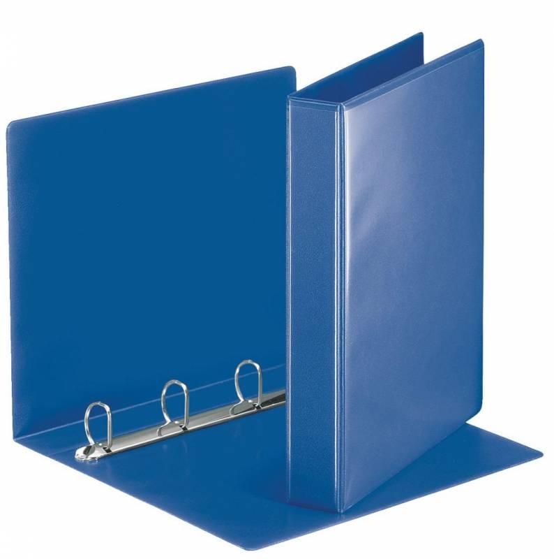 Image of   Hobbymappe Esselte blå 30mm A4 m/lomme 4-rings D-mekanisme