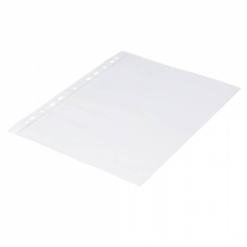 Billede af Plastlomme 0,06mm A4 glasklar 100stk/pak Q-line m/hvis hulkant