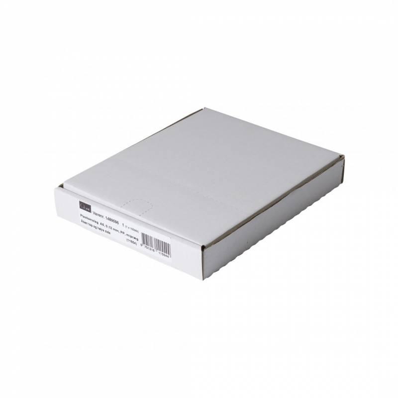 Billede af Plastomslag 0,12mm A5 med præg 100stk/pak Q-line