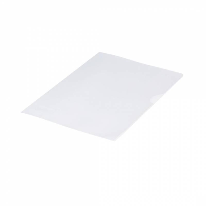 Billede af Plastomslag 0,12mm A4 med præg 100stk/pak Q-line - åben top
