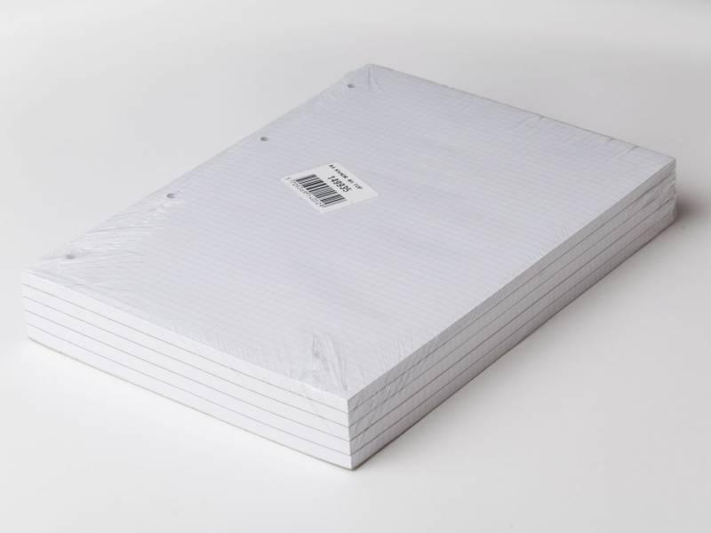 Billede af Standardblok 4 huller kvadr. toplimet 60g hvid A4