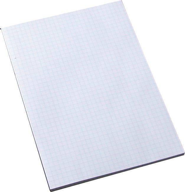 Billede af Standardblok u/huller kvadr. toplimet 60g hvid A5