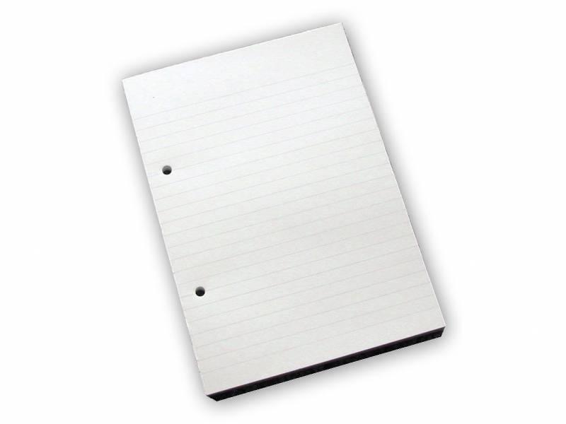 Billede af Standardblok 2 huller lin. 60g hvid A5