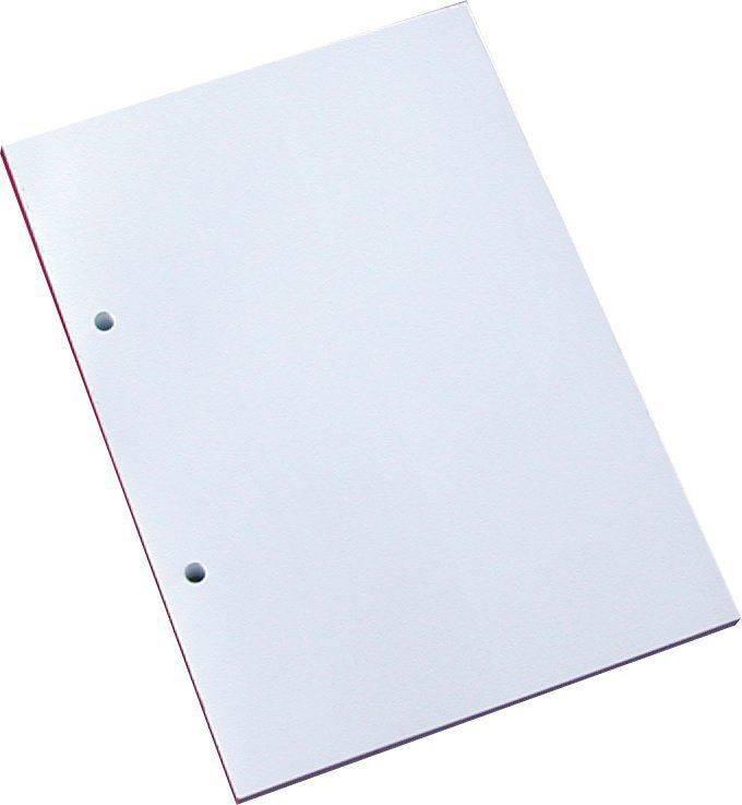 Billede af Standardblok 2 huller ulin. 60g hvid A5
