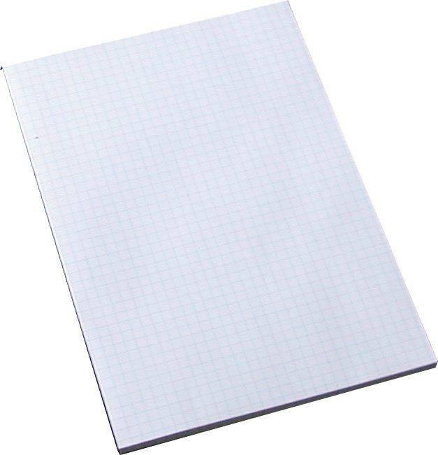Billede af Standardblok u/huller kvadr. 60g hvid A5