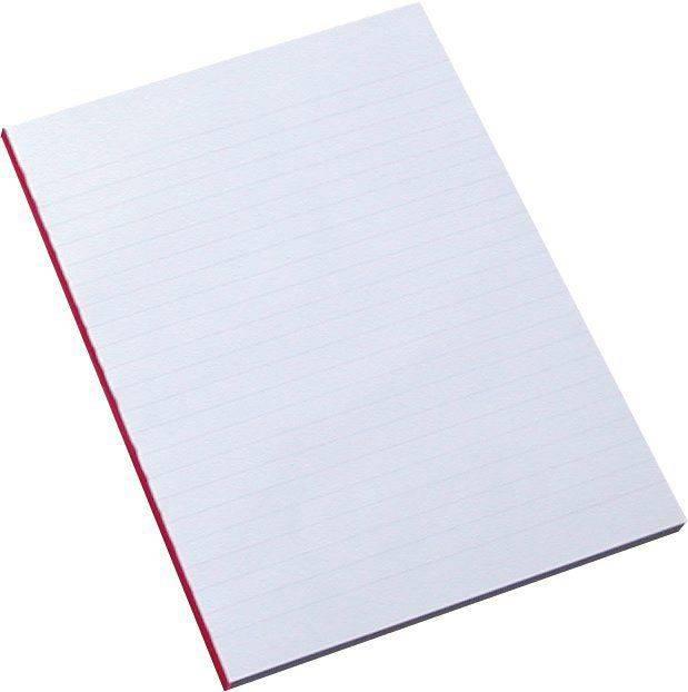 Billede af Standardblok u/huller lin. 60g hvid A5