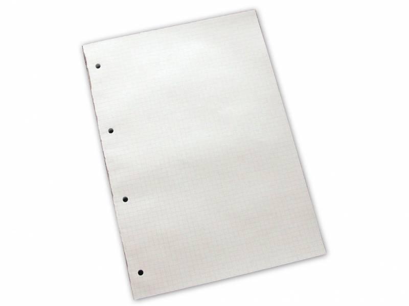 Billede af Standardblok 4 huller kvadr. 60g hvid A4