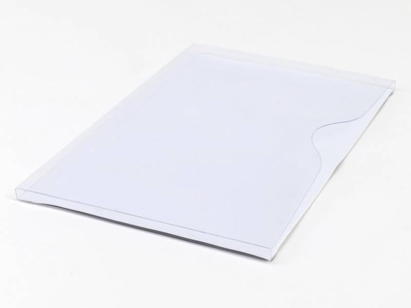 Image of   Magnetlomme A4 åben liggende hvid 1cm dyb 10st/pkt