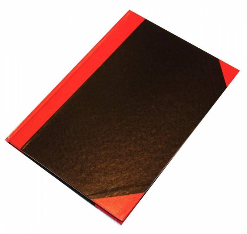 Billede af Kinabog linjeret A6 Q-Line sort/rød 80 blade 70g FSC