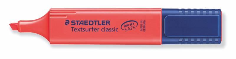 Tekstmarker STAEDTLER 364 rød Textsurfer Classic inkjet