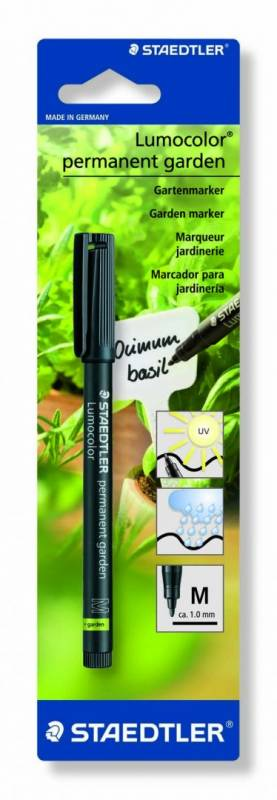Image of   Gardenmarker Lumocolor 319 M M 1,0mm sort permanent blister