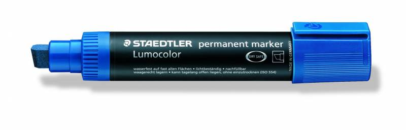 Marker Lumocolor permanent blå 2-12mm 388