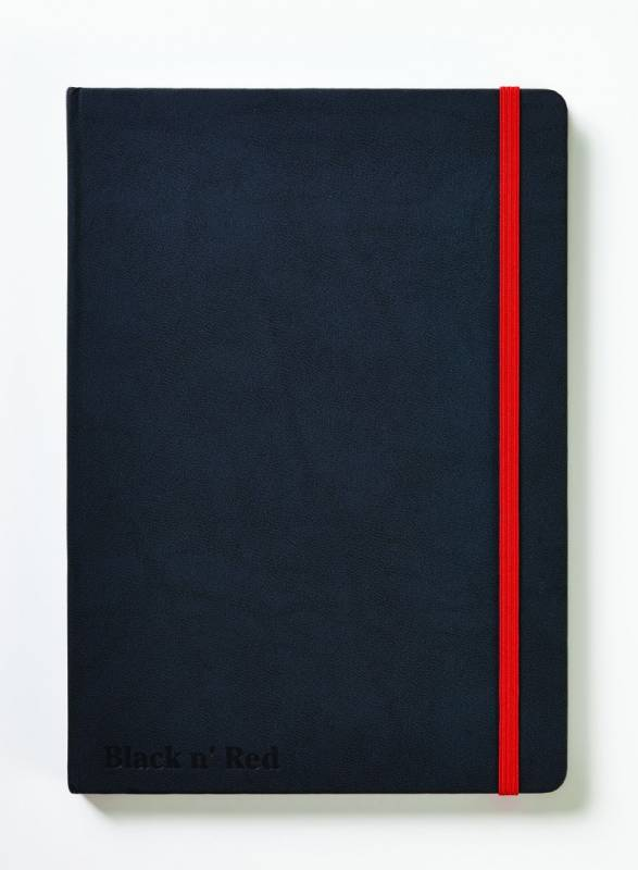 Image of   Notesbog Oxford Black N´Red A5 sort linieret hard cover