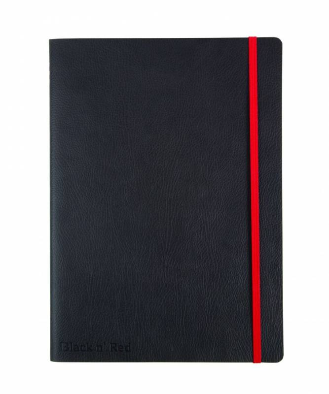 Image of   Notesbog Oxford Black N´Red B5 sort linieret soft cover