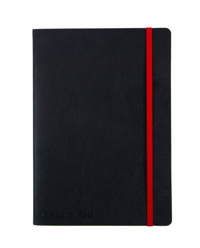 Notesbog Oxford Black N´Red A5 sort linieret soft cover
