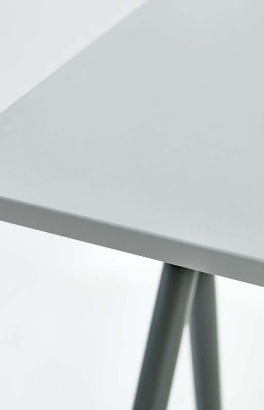 Bord Standup 95cm grå/grå inkl. måtte