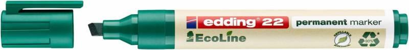 Image of   Marker edding 22 EcoLine grøn perm. 1-5mm skrå spids