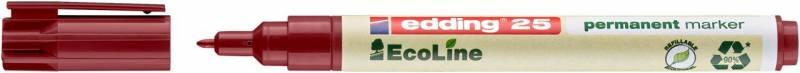 Marker edding 25 EcoLine rød perm. 1mm rund spids
