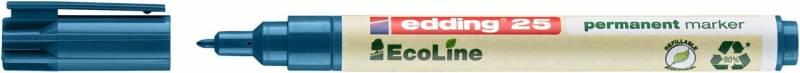 Marker edding 25 EcoLine blå perm. 1mm rund spids