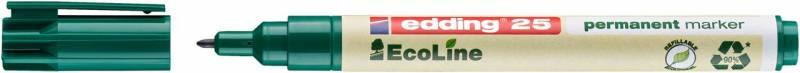 Image of   Marker edding 25 EcoLine grøn perm. 1mm rund spids