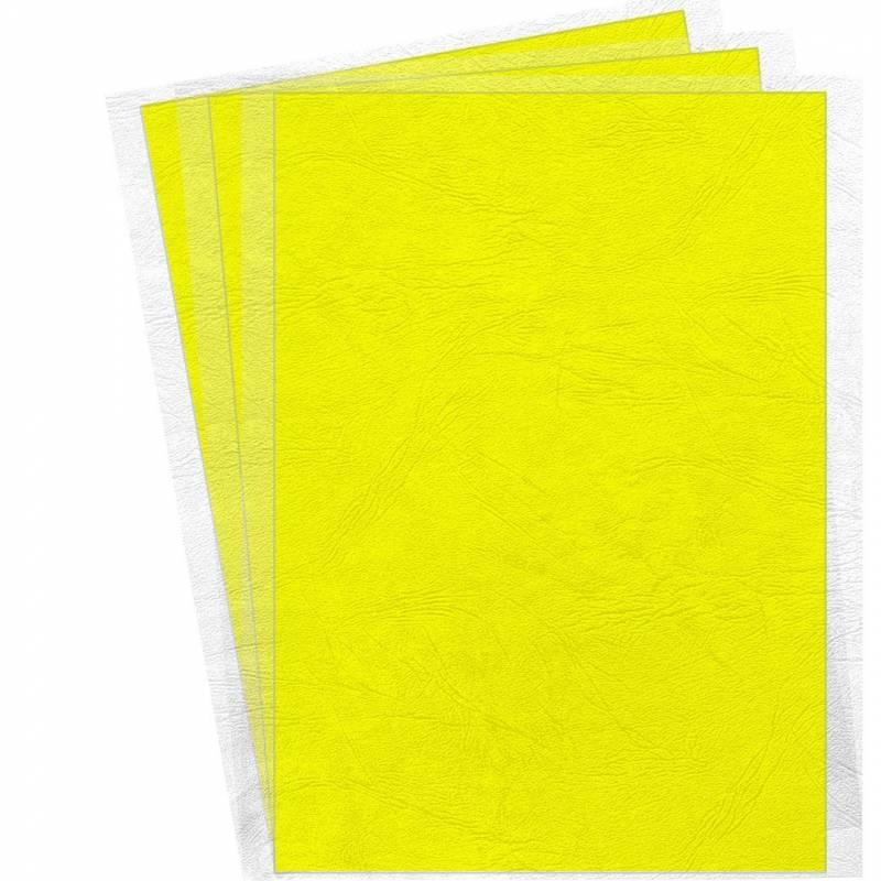 Image of   Kartonforside til indbinding Fellowes A4 250g gul Delta leatherboard 100stk/pak