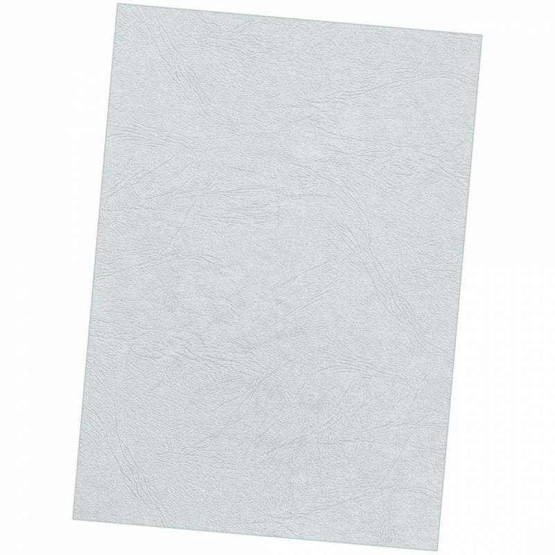Image of   Kartonforside til indbinding Fellowes A4 250g grå Delta leatherboard 100stk/pak