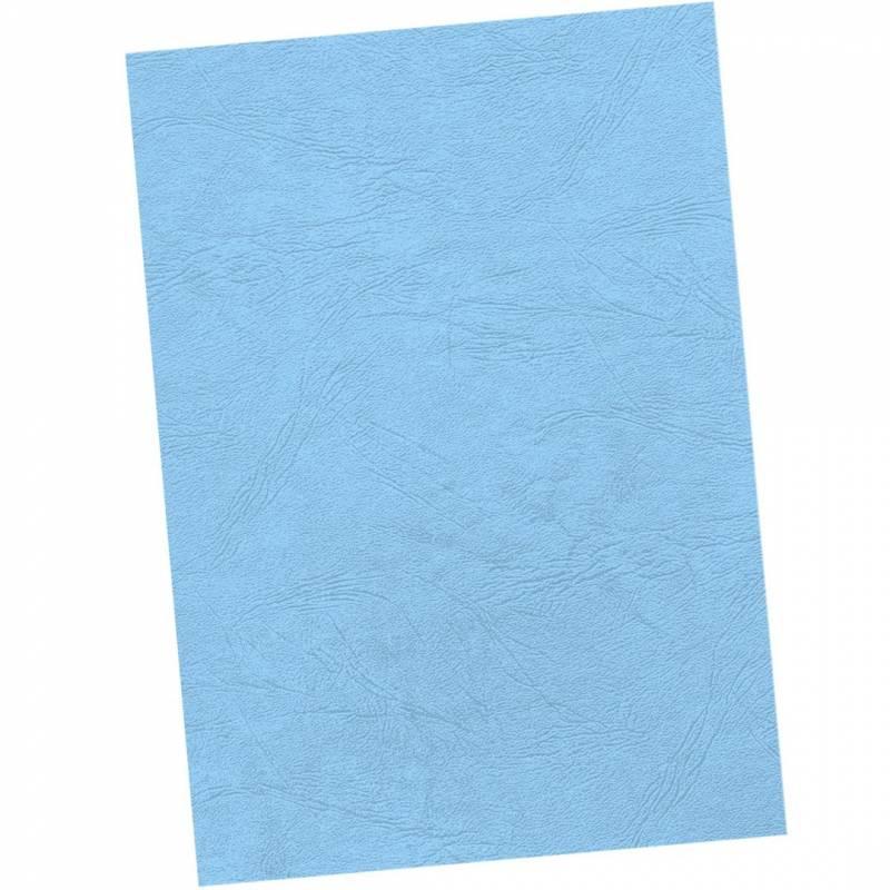 Image of   Kartonforside til indbinding Fellowes A4 250g blå Delta leatherboard 100stk/pak
