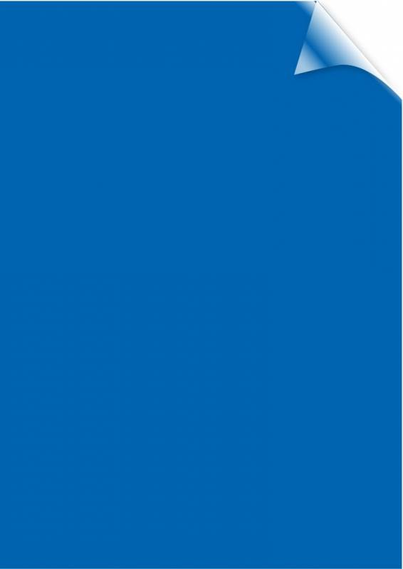 Image of   Plastforside til indbinding Fellowes A4 200mic transparent blå PVC 100stk/pak