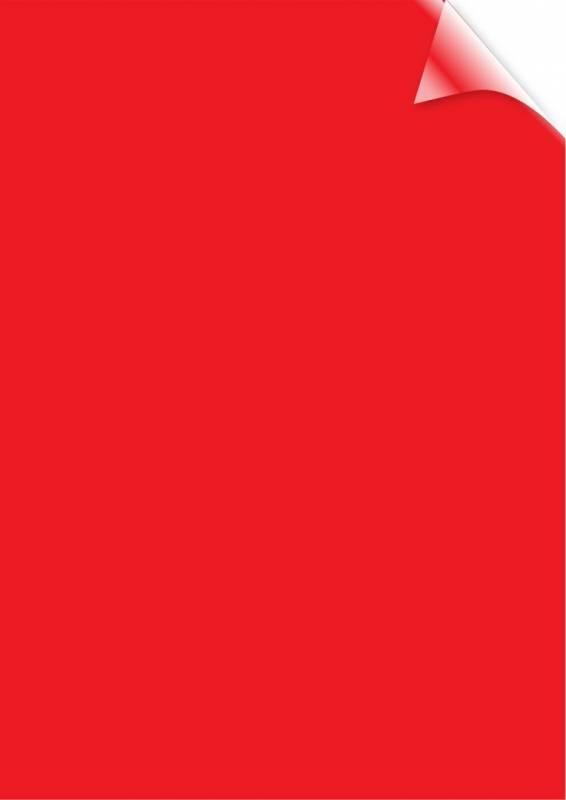 Image of   Plastforside til indbinding Fellowes A4 200mic transparent rød PVC 100stk/pak