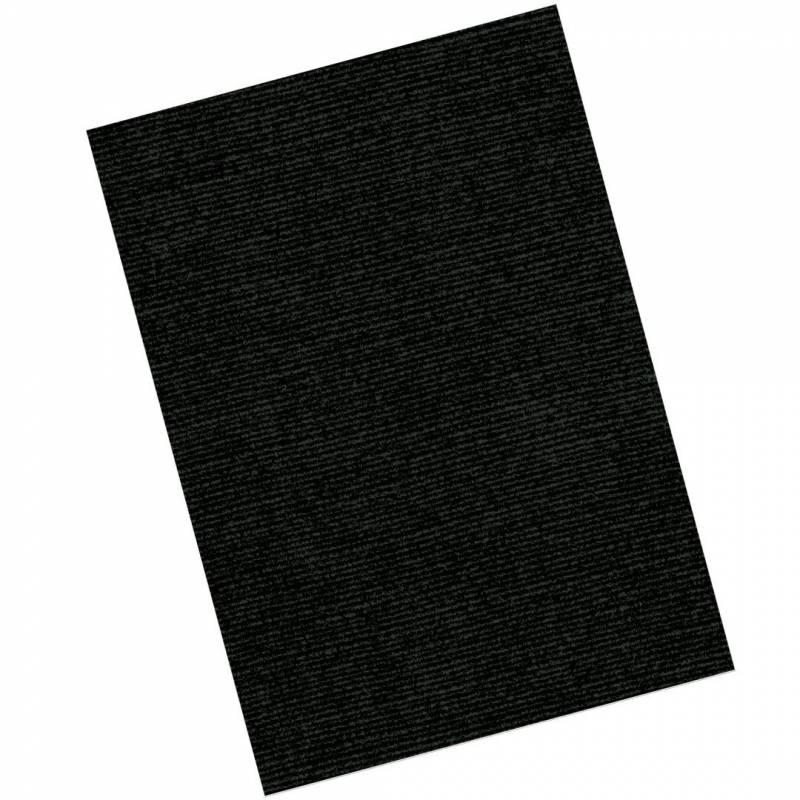 Image of   Kartonforside til indbinding Fellowes A4 250g sort Linen Texture 100stk/pak