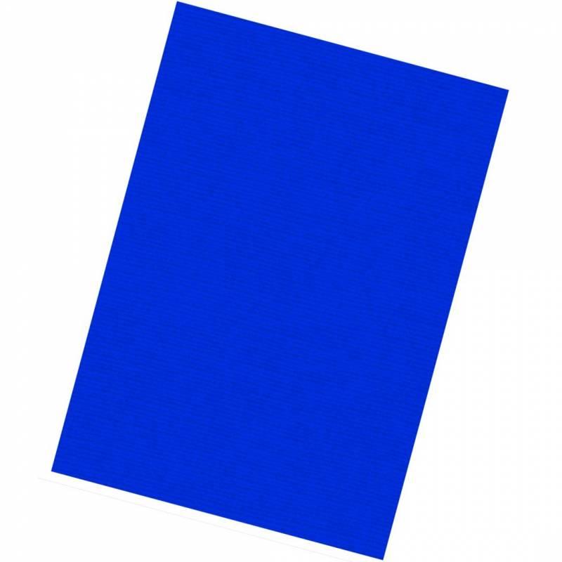 Image of   Kartonforside til indbinding Fellowes A4 250g blå Linen Texture 100stk/pak