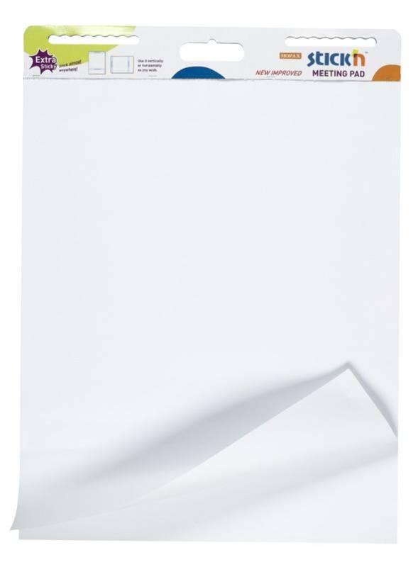 Flipoverpapir selvklæbende 72x62cm hvid 30ark/blk