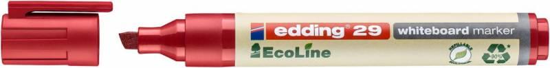 Whiteboardmarker edding 29 EcoLine rød 1-5mm skrå spids