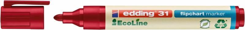 Image of   Marker edding 31 Flipchart ECOLINE rød 1,5-3mm rund spids