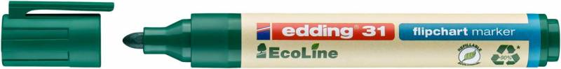 Image of   Marker edding 31 Flipchart ECOLINE grøn 1,5-3mm rund spids