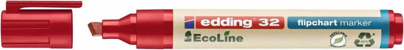 Image of   Marker Edding 32 Flipchart ECOLINE sort 1-5mm skrå spids