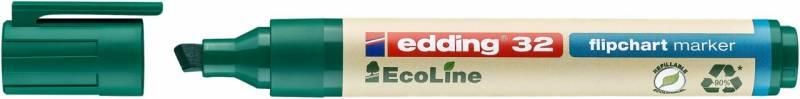 Image of   Marker Edding 32 Flipchart ECOLINE grøn 1-5mm skrå spids