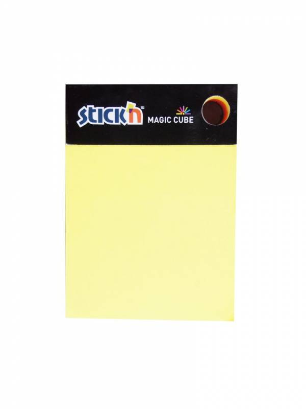 Notes StickN Magic Cube 7 ass. neon farver 101x76mm 280blade
