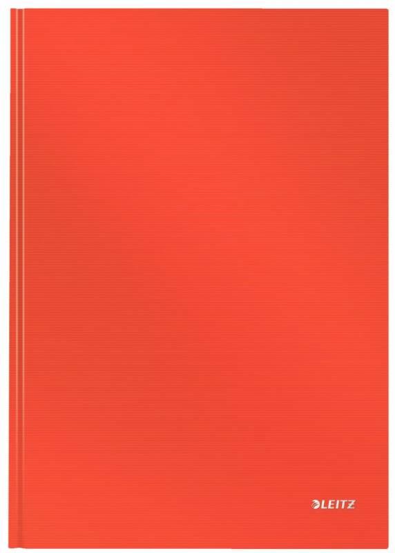 Notesbog Leitz Solid A4 lys rød hard linieret 80ark
