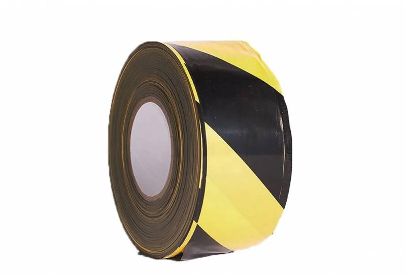 Billede af Afspærringsbånd gul/sort 75mmx500m PE