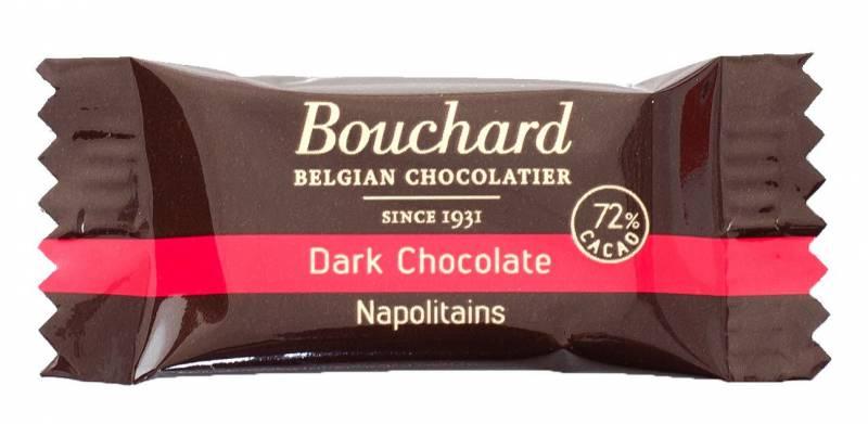 Image of   Chokolade Bouchard mørk 5g flowpakket 1kg/pak