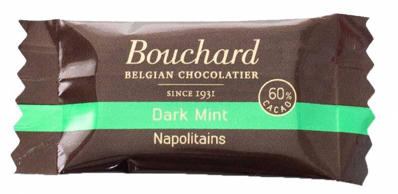 Image of   Chokolade Bouchard mint 5g flowpakket 1kg/pak