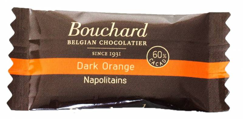 Image of   Chokolade Bouchard orange 5g flowpakket 1kg/pak