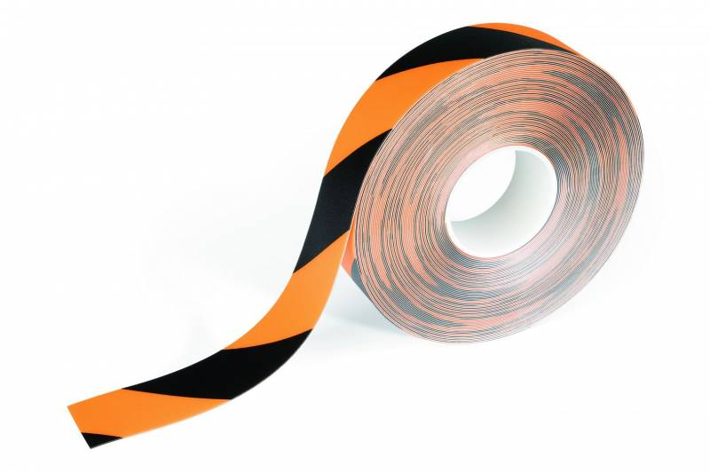 Tape advarsels Duraline Strong 50mmx30m 0,7mm gul/sort
