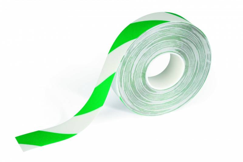 Tape advarsels Duraline Strong 50mmx30m 0,7mm grøn/hvid