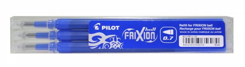 Image of   Refill Pilot Frixion blå medium 3-pack