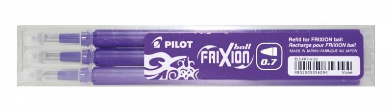 Refill Pilot Frixion violet medium 3-pack